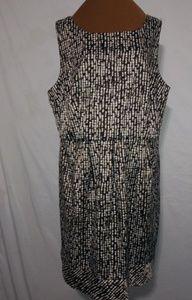 Dress Barn Black Gold Chicklet Pattern Dress Sz 22